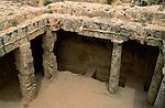 Paphos, Pafos, Tombs of the Kings, Gräber der Könige, Graeber der Koenige, Cyprus. Zypern.