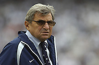 06 September 2008:  Penn State coach Joe Paterno..The Penn State Nittany Lions defeated the Oregon State Beavers 45-14 September 6, 2008 at Beaver Stadium in State College, PA..