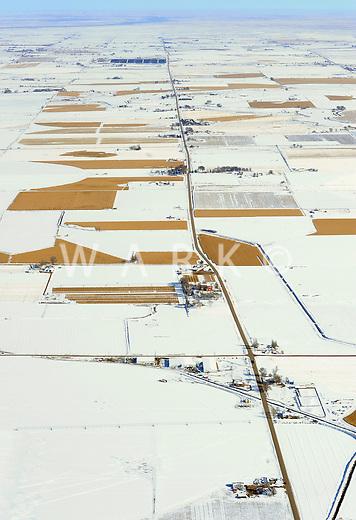 Winter fields, Eastern Colorado plains. Nov 2009