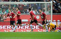 FUSSBALL   1. BUNDESLIGA   SAISON 2012/2013   3. SPIELTAG Hannover 96 - SV Werder Bremen     15.09.2012 Szabolcs Huszti (2.v.l. Hannover 96) bejubelt seinen Treffer zum 1:0