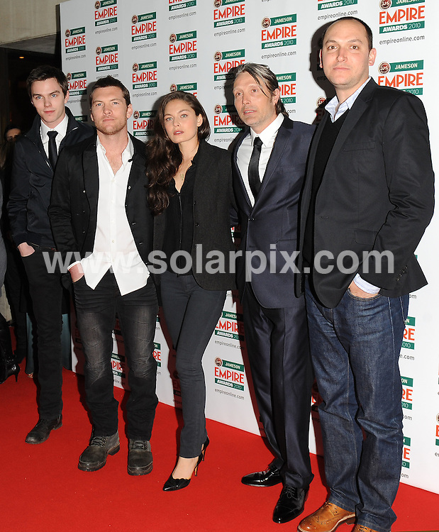**ALL ROUND PICTURES FROM SOLARPIX.COM**.**WORLDWIDE SYNDICATION RIGHTS**.Red carpet arrivals at the Jameson Empire Awards 2010. Held at Grosvenor House, Mayfair, London, UK. 28 March 2010..This pic: Clash Of The Titans cast..JOB REF: 10995 SSD    DATE: 28_03_2010.**MUST CREDIT SOLARPIX.COM OR DOUBLE FEE WILL BE CHARGED**.**MUST NOTIFY SOLARPIX OF ONLINE USAGE**.**CALL US ON: +34 952 811 768 or LOW RATE FROM UK 0844 617 7637**