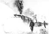 Rotary snowplow ON blowing snow.<br /> D&amp;RGW