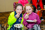 Jane Lynch and Sive Caddigan enjoying the birthday cake at the 1st year anniversary awards and celebration of ParkRun Tralee in the Brandon Hotel on Saturday
