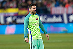 FC Barcelona's forward Leo Messi during the match of Copa del Rey between Atletico de  Madrid and Futbol Club Barcelona at Vicente Calderon Stadium in Madrid, Spain. February 1st 2017. (ALTERPHOTOS/Rodrigo Jimenez)