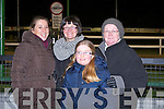 FUN AT THE TRACK: Having great time at the Kingdom Greyhound Stadium on Friday l-r: Annmarie Murphy, Lisa Cox, Lily Cox and Liz Murphy, Brosna.