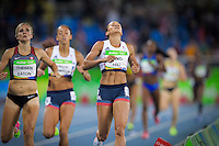 Team GB Jessica Ennis-Hill finishing the 800m heptathlon race. <br /> Rio de Janeiro, Brazil on August 13, 2016<br /> CAP/CAM<br /> &copy;Andre Camara/Capital Pictures /MediaPunch ***NORTH AND SOUTH AMERICAS ONLY***