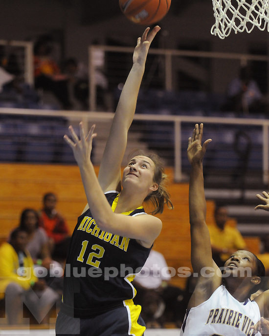 The University of Michigan women's basketball team beat Prairie View A&M, 59-53, in the first round of the 2011 Paradise Jam in Saint Thomas, US Virgin Islands, on November 24, 2011.
