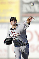 Mark Phillips of the Lake Elsinore Storm warms up before pitching during a California League 2002 season game against the San Bernardino Stampede at San Manuel Stadium, in San Bernardino, California. (Larry Goren/Four Seam Images)