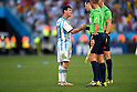 Lionel Messi (ARG),<br /> JULY 1, 2014 - Football / Soccer : Lionel Messi of Argentina shakes hands with referees after Argentina winning the FIFA World Cup Brazil 2014 Round of 16 match between Argentina 1-0 Switzerland at Arena de Sao Paulo in Sao Paulo, Brazil.<br /> (Photo by FAR EAST PRESS/AFLO)