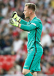 FC Barcelona's Marc-Andre Ter Stegen celebrates goal during La Liga match. August 28,2016. (ALTERPHOTOS/Acero)