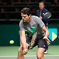 Rotterdam, Netherlands, 10 februari, 2019, Ahoy, Tennis, ABNAMROWTT, MILOS RAONIC (CAN) Photo: Henk Koster/tennisimages.com
