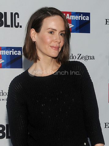 New York, NY- August 5: Sarah Paulson attends the Public Theater's Opening Night of King Lear on August 5, 2014 at the Delacorte Theater in Central Park in New York City. . Credit: John Palmer/MediaPunch