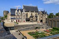 France, Maine-et-Loire (49), Angers, château d'Angers, la roseraie