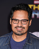 LOS ANGELES, CA - OCTOBER 10: Actor Michael Pena arrives at the premiere of Disney and Marvel's 'Thor: Ragnarok' at the El Capitan Theatre on October 10, 2017 in Los Angeles, California.<br /> CAP/ROT/TM<br /> &copy;TM/ROT/Capital Pictures