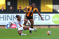 Aswad Thomas of Sutton and Uche Ikpeazu of Cambridge  during Cambridge United vs Sutton United , Emirates FA Cup Football at the Cambs Glass Stadium on 5th November 2017