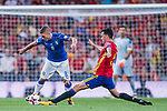 Marco Verratti (L) of Italy fights for the ball with  Sergio Busquets (R) of Spain during their 2018 FIFA World Cup Russia Final Qualification Round 1 Group G match between Spain and Italy on 02 September 2017, at Santiago Bernabeu Stadium, in Madrid, Spain. Photo by Diego Gonzalez / Power Sport Images