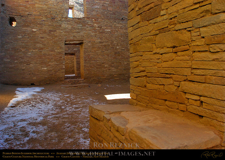 Interior Detail, Pueblo Bonito Chacoan Great House, Anasazi Hisatsinom Ancestral Pueblo Site, Chaco Culture National Historical Park, Chaco Canyon, Nageezi, New Mexico