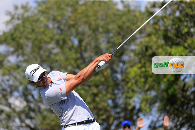 Adam Scott (AUS) during the 2nd round at the WGC Cadillac Championship, Blue Monster, Trump National Doral, Doral, Florida, USA<br /> Picture: Fran Caffrey / Golffile