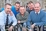 Pictured at the launch of the Movember campaign in aid of prostrate cancer in St Brendans College, Killarney on Thursday were Turlough O'Brien, Gary McGrath, Eugene O'Sullivan, Irish Cancer Society, Haulie Clifford and Declan O'Donoghue.....