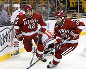Tyler McNeely (NU - 94), Brendan Rempel (Harvard - 42), Louis Leblanc (Harvard - 20) - The Northeastern University Huskies defeated the Harvard University Crimson 4-1 (EN) on Monday, February 8, 2010, at the TD Garden in Boston, Massachusetts, in the 2010 Beanpot consolation game.