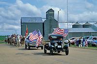 Fourth of July parade on Main Street of small town, Arnegard, North Dakota, AGPix_0082.