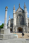 Winchester Cathedral and memorial cross from the West