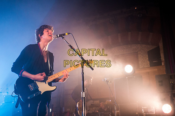 British rock band The Kooks play the Corn Exchange, Cambridge on May 9th 2017 The Kooks are Luke Pritchard (vocals/rhythm guitar), Hugh Harris (lead guitar/synth), Alexis Nunez (drums), and Peter Denton (bass guitar)<br /> CAP/PP/HOG<br /> &copy;HOG/PP/Capital Pictures