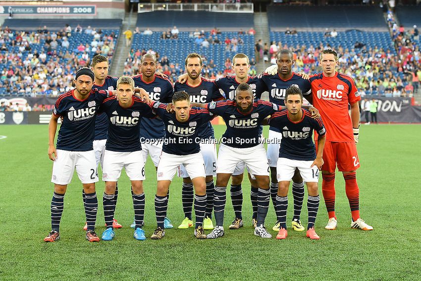 July 26, 2014 - Foxborough, Massachusetts, U.S. - New England Revolution pose for a team photo before the MLS game between the Columbus Crew and the New England Revolution held at Gillette Stadium in Foxborough Massachusetts.  Eric Canha/CSM