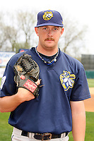 April 11 2010: Brendan Lafferty of the Burlington Bees. The Bees are the Low A affiliate of the Kansas City Royals. Photo by: Chris Proctor/Four Seam Images