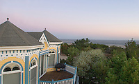 Victorian House over looking the Atlantic Ocean and sand dunes. Cape May, New Jersey