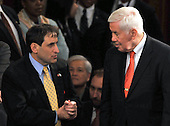 Washington, D.C. - February 24, 2009 -- Ambassador Sallai Meridor of Israel, left, shares some thoughts with United States Senator Dick Lugar (Republican of Indiana), right, on the floor of the United States House of Representatives prior to United States President Barack Obama delivering an address to a Joint Session of Congress in the United States Capitol in Washington, D.C. on Tuesday, February 24, 2009..Credit: Ron Sachs / CNP.(RESTRICTION: NO New York or New Jersey Newspapers or newspapers within a 75 mile radius of New York City)