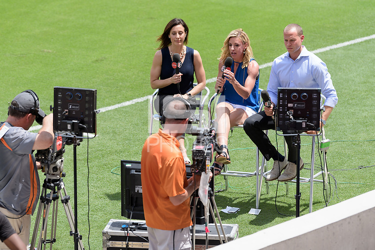 Houston, TX - Saturday May 27, 2017: Lifetime TV Crew during a regular season National Women's Soccer League (NWSL) match between the Houston Dash and the Seattle Reign FC at BBVA Compass Stadium.
