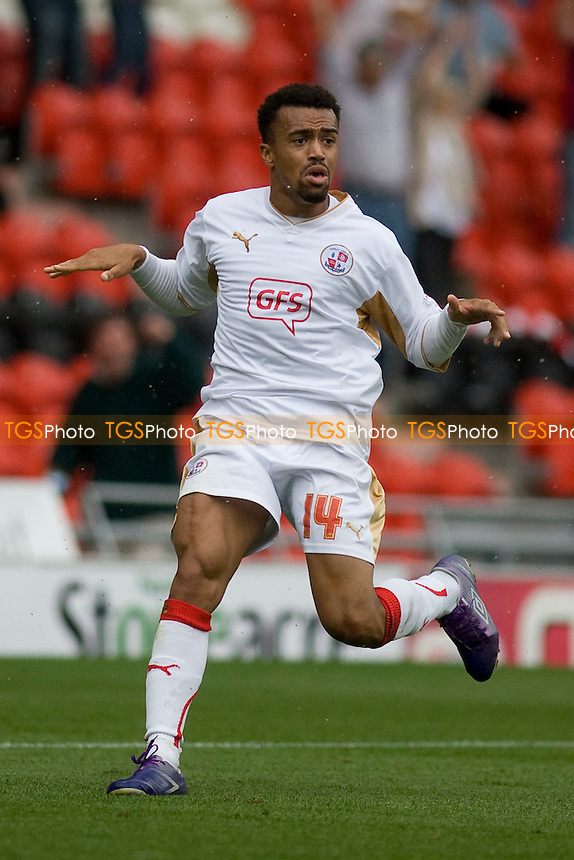 Nicky Ajose scores for Crawley. - Doncaster Rovers vs Crawley Town - NPower Championship Football at the Keepmoat Stadium, Doncaster - 25/08/12 - MANDATORY CREDIT: Mark Hodsman/TGSPHOTO - Self billing applies where appropriate - 0845 094 6026 - contact@tgsphoto.co.uk - NO UNPAID USE.