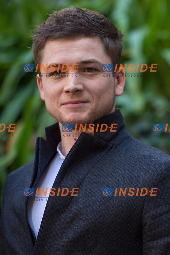 Taron Egerton <br /> Roma 02-02-2015 Hotel De Russie <br /> Kingsman Photocall <br /> Foto Andrea Staccioli / Insidefoto