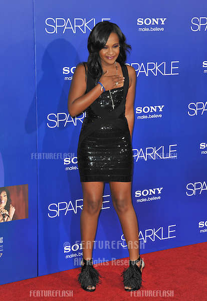 "Bobbi Kristina Brown (daughter of the late Whitney Houston) at the world premiere of Whitney's last movie ""Sparkle"" at Grauman's Chinese Theatre, Hollywood..August 16, 2012  Los Angeles, CA.Picture: Paul Smith / Featureflash"