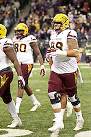 NOVEMBER 19:  ASU's Cohl Cavral against Washington.  Washington defeated ASU 44-18 at the University of Washington in Seattle, WA
