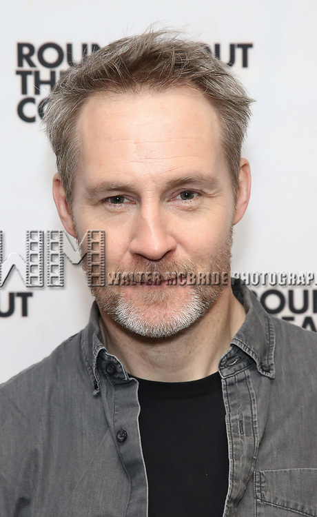 "Peter McDonald attends the ""Travesties"" Meets The Press on March 6, 2018 at the Roundabout Theatre in New York City."