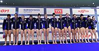ITALY Team <br /> Budapest 12/01/2020 Duna Arena <br /> GERMANY (white caps) Vs. ITALY (blue caps)<br /> XXXIV LEN European Water Polo Championships 2020<br /> Photo  © Andrea Staccioli / Deepbluemedia / Insidefoto