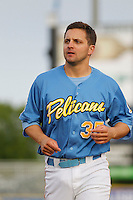Myrtle Beach Pelicans outfielder Kevin Brown (35) at bat during a game against the Salem Red Sox at Ticketreturn.com Field at Pelicans Ballpark on May 6, 2015 in Myrtle Beach, South Carolina.  Myrtle Beach defeated Salem 4-2. (Robert Gurganus/Four Seam Images)