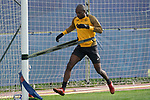 Getafe's Allan Nyom during training session. May 15,2020.(ALTERPHOTOS/Acero)