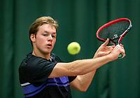 Wateringen, The Netherlands, December 1,  2019, De Rhijenhof , NOJK 12 and16 years, Final boys 16 years: Miko Wassermann (NED)<br /> Photo: www.tennisimages.com/Henk Koster