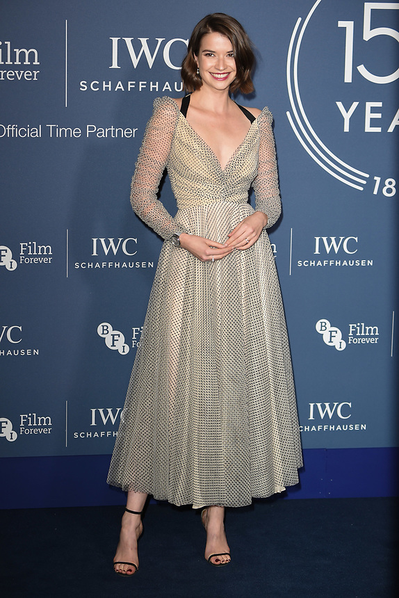 Margaret Clunie<br /> arriving for the 2018 IWC Schaffhausen Gala Dinner in Honour of the BFI at the Electric Light Station, London<br /> <br /> ©Ash Knotek  D3437  09/10/2018