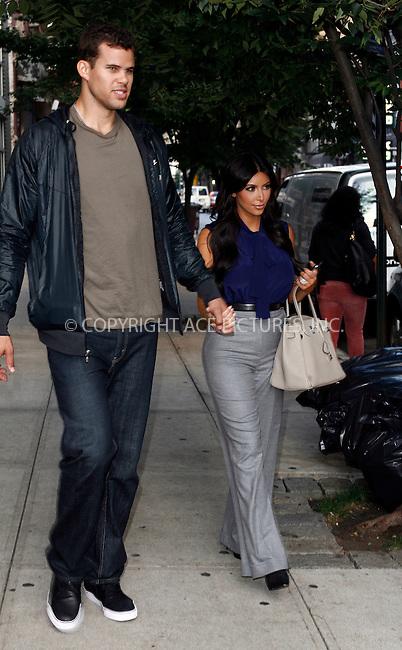 WWW.ACEPIXS.COM . . . . .  ....September 20 2011, New York City....Kim Kardashian and Kris Humphries out in midtown Manhattan on September 20 2011 in New York City....Please byline: CURTIS MEANS - ACE PICTURES.... *** ***..Ace Pictures, Inc:  ..Philip Vaughan (212) 243-8787 or (646) 679 0430..e-mail: info@acepixs.com..web: http://www.acepixs.com