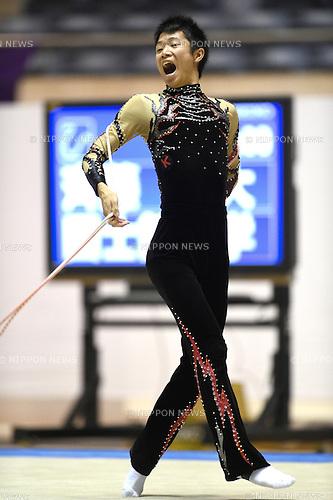 Takehiro Saito, <br /> NOVEMBER 16, 2014 - Rhythmic Gymnastics : 67th All Japan Rhythmic Gymnastics Championships, Men's Individual Rope at Yoyogi 1st Gymnasium in Tokyo, Japan. <br /> (Photo by AFLO SPORT) [1220]