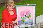 Duagh artist Ellen Keane with one of her paintings on display at her firet art exhibition at the Seancaha?i Centre Listowel on Thursday night,.   Copyright Kerry's Eye 2008