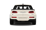 Straight rear view of 2016 MINI Clubman One 5 Door Wagon Rear View  stock images