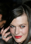 "HOLLYWOOD, CA. - August 05: Milla Jovovich arrives at the premiere of ""A Perfect Getaway"" at the Cinerama Dome on August 5, 2009 in Hollywood, California."