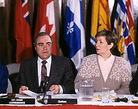 Lise Bacon<br /> et Marcel Masse, vers 1986<br /> <br /> PHOTO : Agence Quebec Presse