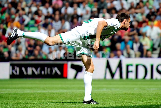 voetbal fc groningen - ajax  eredivisie seizoen 2010-2011 08-08-2010 ballet oefening tim sparv