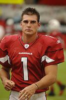 Aug 18, 2007; Glendale, AZ, USA; Arizona Cardinals kicker Neil Rackers (1) against the Houston Texans at University of Phoenix Stadium. Mandatory Credit: Mark J. Rebilas-US PRESSWIRE Copyright © 2007 Mark J. Rebilas